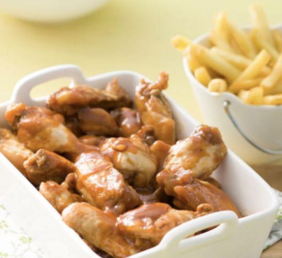 Alitas de pollo a la bbq