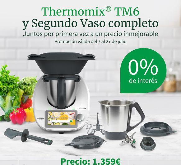 SÚPER PROMOCIÓN Thermomix® TM6 CON UN 2º VASO COMPLETO Y FINANCIACIÓN AL 0% DE INTERÉS!!!