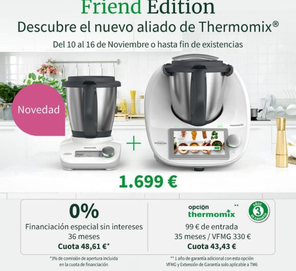 OS PRESENTAMOS Thermomix® FRIEND Y HAGAMOS UN MENU JUNTOS