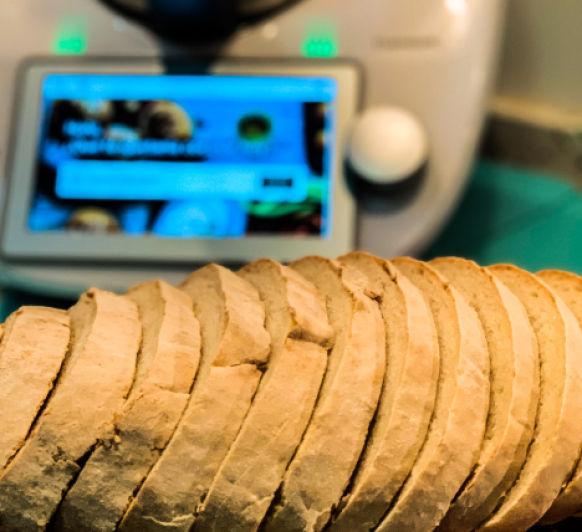 Receta de pan 75% de agua con Thermomix®