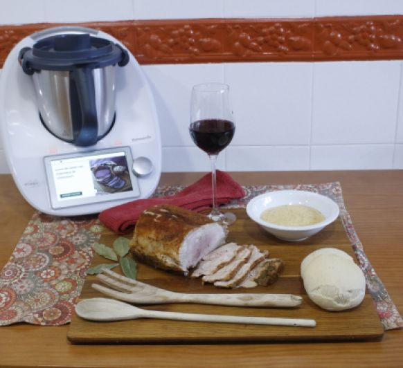 !!!! Cocinar carne en tu Thermomix® !!!! Lomo de cerdo con mayonesa de chimichurri